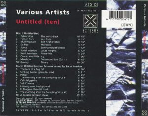 Various Artists - Untitled (ten) - back cover